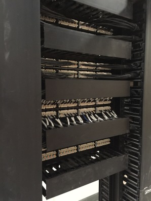 back of the server rack